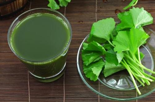 Uống nước rau má phòng nổi mề đay khi trời nắng nóng