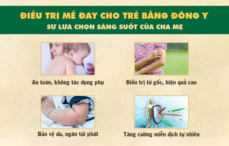 Ưu điểm khi điều trị mề đay ở trẻ em bằng Đông y