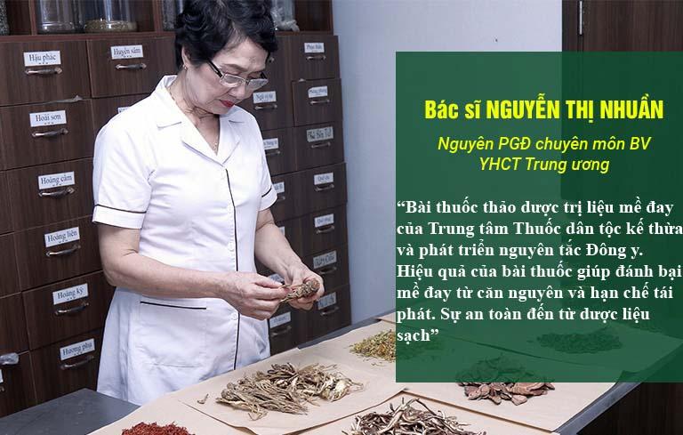 Bác sĩ Nguyễn Thị Nhuần đánh giá hiệu quả xử lý dị ứng da của bài thuốc Tiêu ban Giải độc thang