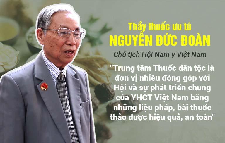 Chủ tịch Hội Nam Y Việt Nam đánh giá cao liệu pháp thảo dược của Trung tâm Thuốc dân tộc