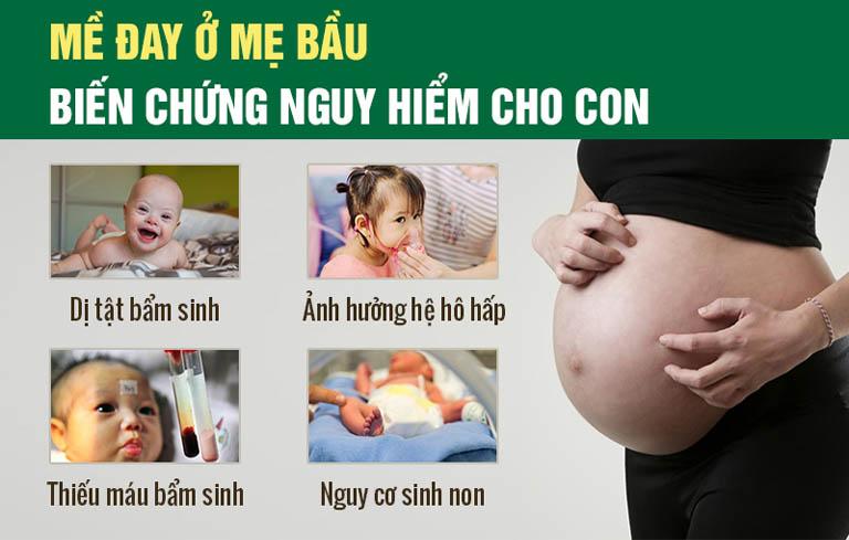 Mề đay khi mang thai có thể gây biến chứng nguy hiểm
