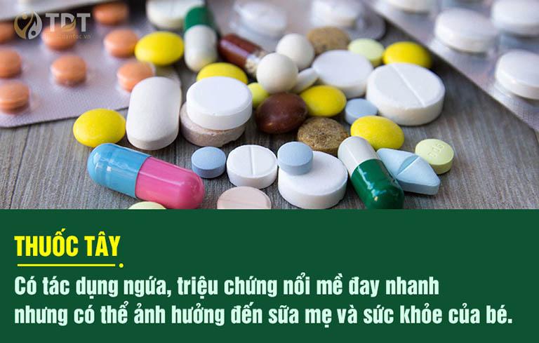 Điều trị mề đay mãn tính bằng thuốc Tây có nhiều nhược điểm