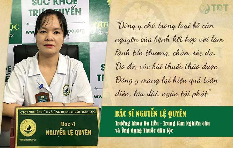 Bác sĩ Lệ Quyên chia sẻ về phương pháp chữa mề đay bằng Đông y