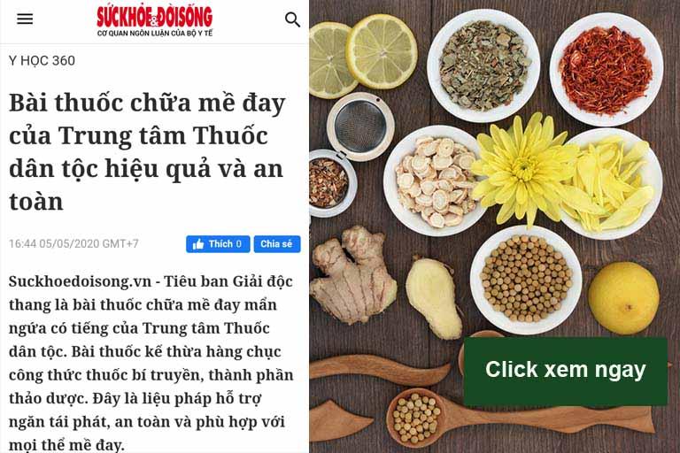 Báo suckhoedoisong đưa tin về bài thuốc Tiêu ban Giải độc thang