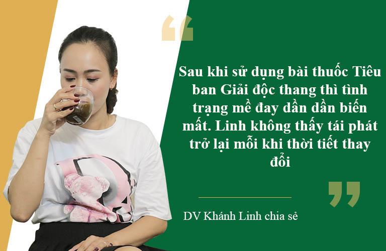 Diễn viên Khánh Linh chia sẻ hiệu quả bài thuốc