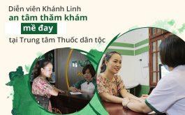Diễn viên Khánh Linh thăm khám bệnh mề đay tại Trung tâm Thuốc dân tộc
