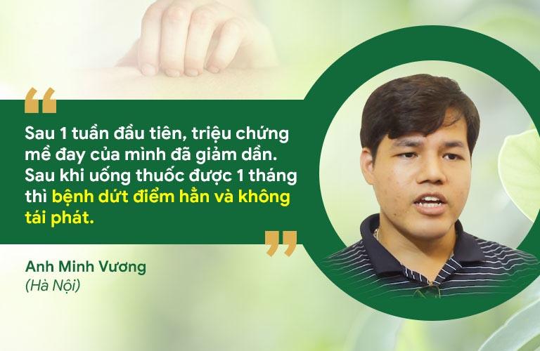 Anh Minh Vương chia sẻ hiệu quả điều trị mề đay tại Thuốc dân tộc