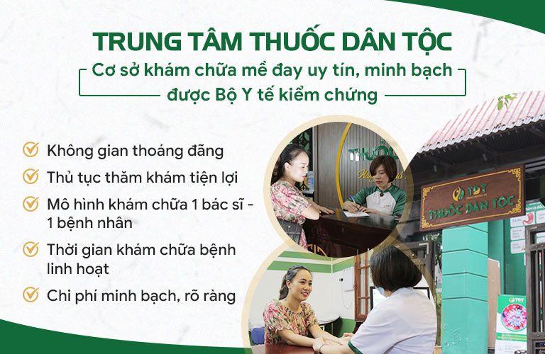 Trung tâm Thuốc dân tộc là đơn vị khám chữa mề đay bằng YHCT hàng đầu hiện nay